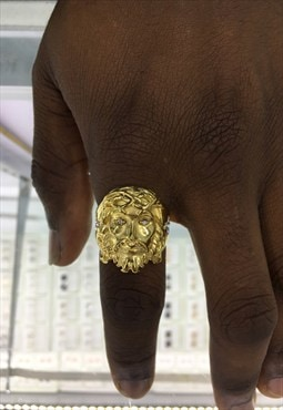 Jesus Nazareth Ring Gold