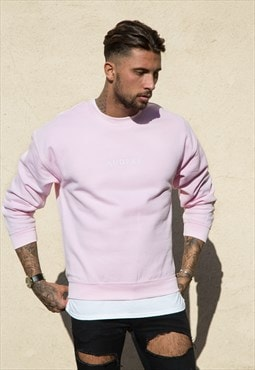 Light Pink Sweater White Print