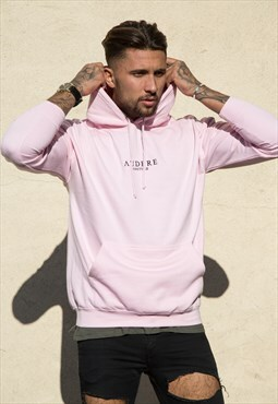 Light Pink Embroidered Hoodie