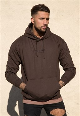 Chocolate Embroidered Hoodie