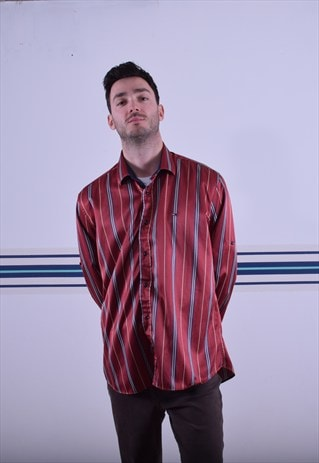 RED STRIPED TOMMY HILFIGER SHIRT
