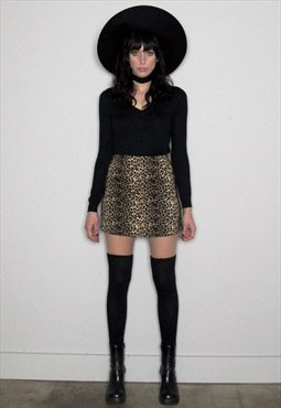 Leopard Print 90s Mini Skirt