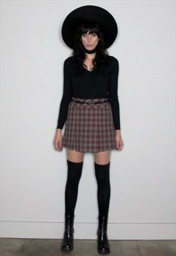 Checkered Mini 90s Skirt
