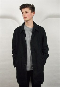 Vintage 90's Barbour Dress Tartan Navy Cotton Jacket Coat