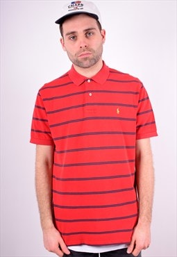 Polo Ralph Lauren Mens Vintage Polo Shirt Large Red 90's