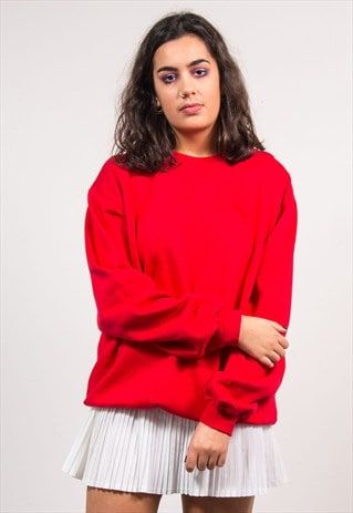 90'S VINTAGE RED PUMA SWEATER SWEATSHIRT