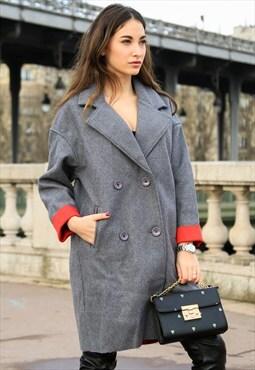 Oversizd Double Breasted Coat