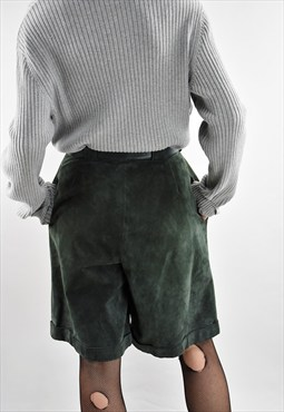 Vintage 90s Suede Shorts with Belt