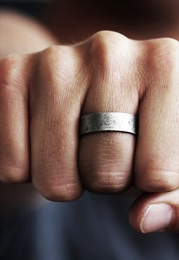 Carpe Diem Silver Mens Rings