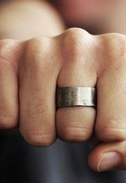 Carpe Diem Silver Custom Mens Ring