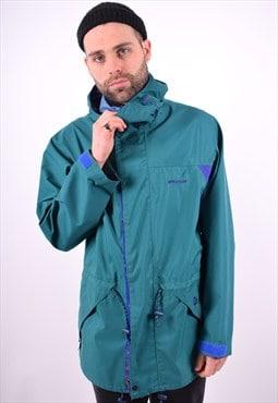 Mens Vintage Sprayway Windbreaker Jacket Large Green 90's