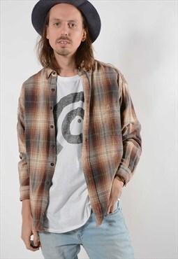 Checked Flannel Skater Shirt. (8049)