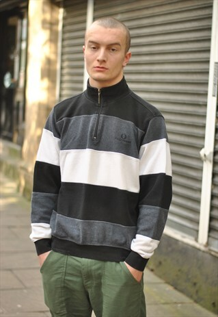 VINTAGE FRED PERRY 1/4 ZIP SWEATER