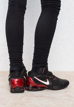 Vintage Black NIKE AIR Classic Hi-Tops Trainers