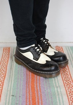 Vintage 3989 Brogue Dr Marten, Black & White Wingtip-  UK11