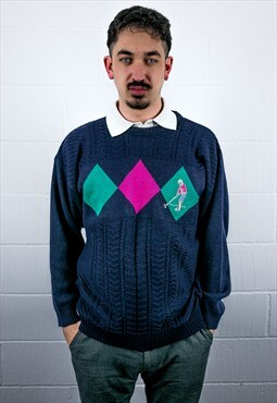 Vintage 90s Pattern Knit Jumper