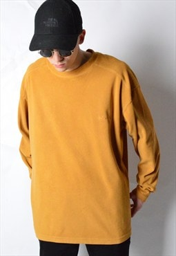 Columbia Vintage 90s Mustard Lightweight Fleece Jumper