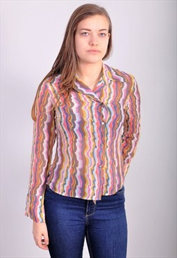 Vintage 90's blouse in abstract print