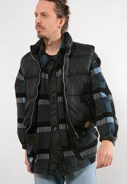 Black Kipling Puffer Gilet Jacket (8371)