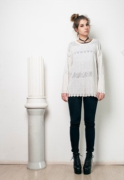 90s vintage lace knit jumper