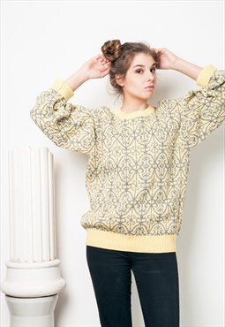 90s vintage baroque knit jumper
