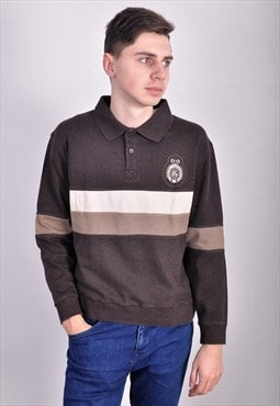 Vintage 90's polo jumper in brown