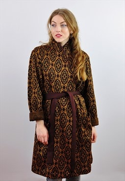 Vintage 1970's Abstract Pattern Boho Festival Jacket