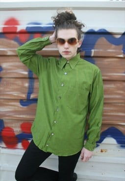 Vintage Dotted Forest Green Shirt