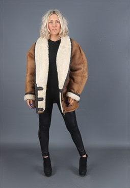 Sheepskin Leather Coat Short Jacket 90's (24X)