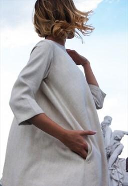 NEW Maxi Linen Dress / Natural Linen Kaftan B03602