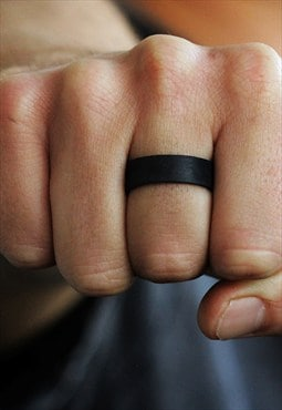 Carpe Diem Black Mens Rings
