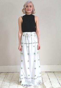 Vintage 70's Handmade Floral Maxi Skirt