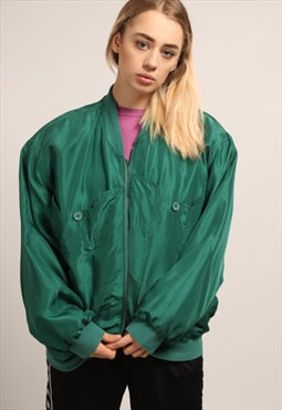 CLEARANCE Vintage Silk Bomber Jacket