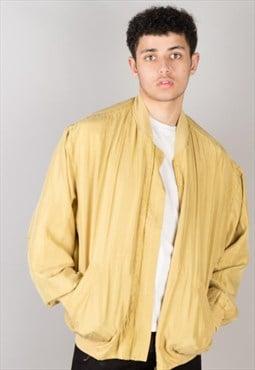 Vintage silk bomber jacket