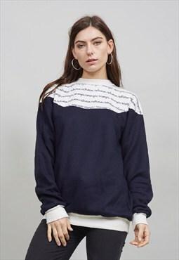 Vintage 70's navy Wrangler sweatshirt