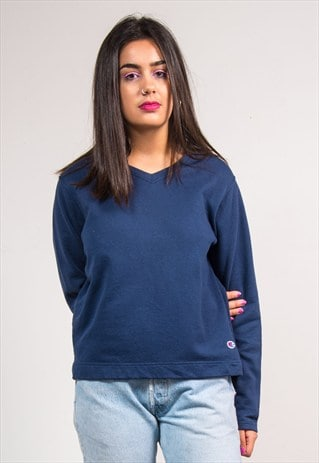 VINTAGE 90'S NAVY BLUE CHAMPION SWEATSHIRT