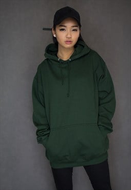Oversized Boyfriend Forest Green Hoodie