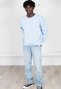 Cosmic Saint Mens Light Blue  Sweatshirt