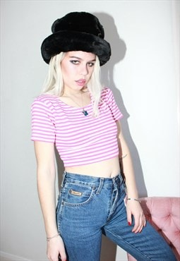 Vintage 70s Striped Crop Top