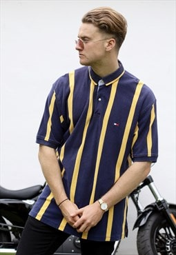 Tommy Hilfiger Stunning 90s Striped Polo Neck