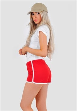 Red classic retro summer shorts
