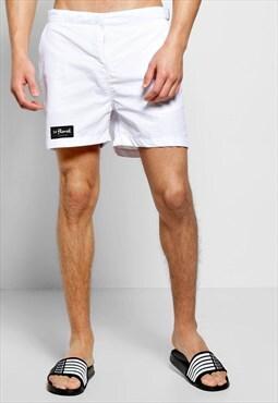 54 Floral Rasp Swim Shorts - White