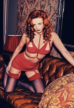 Juliet Red Roll On Girdle
