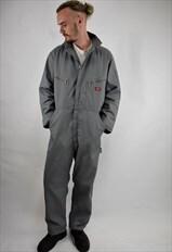 Vintage 90s Dickies Grey Long Sleeve Boilersuit/Overalls