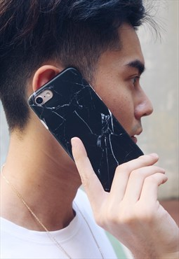 Marble Phone Case - Black