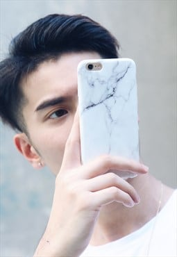 Marble Phone Case - White