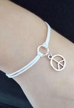 peace bracelet - cord bracelet