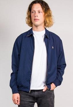 90's Vintage Navy Blue Ralph Lauren Bomber Jacket