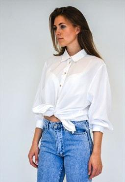 Vintage retro white light shirt