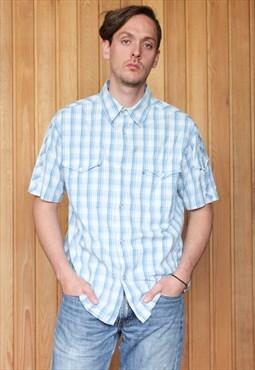 Vintage Blue Checked Wrangler Shirt